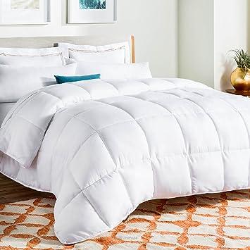 Amazon.com: LINENSPA All-Season White Down Alternative Quilted ... : comforter vs quilt - Adamdwight.com