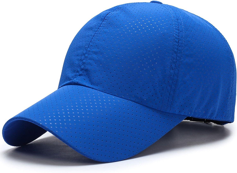 Baseball Cap Unisex Summer Solid Thin Mesh Portable Quick Dry Breathable Sun Hat