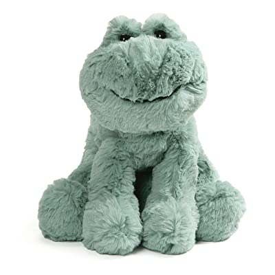 "GUND Cozys Collection Frog Stuffed Animal Plush Pale Olive, 10"": Toys & Games"