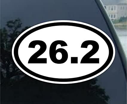 26 2 oval marathon run car bumper window sticker 5