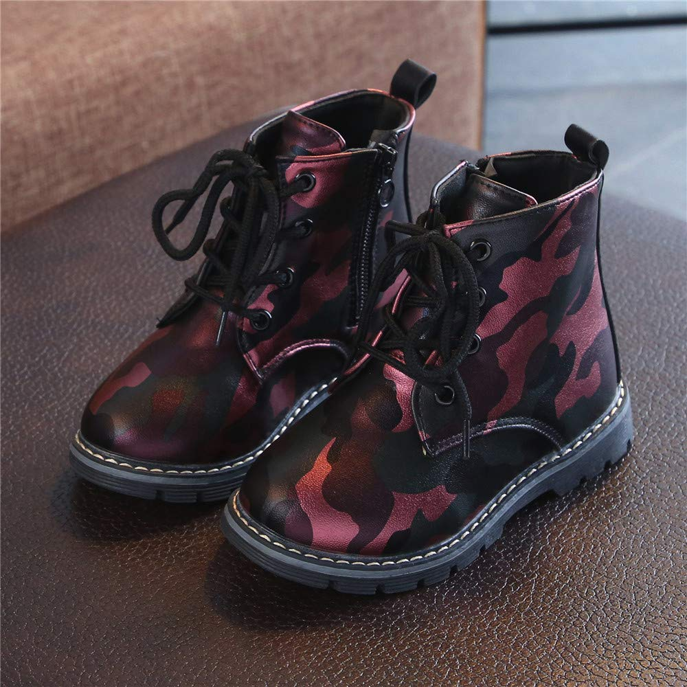 Baby Boots for 1-6 Years Old,Infant Girls Boys Autumn Winter Leather Thick Snow Shoes Fashion Martin Sneaker