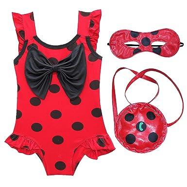 DJSJ- Niña Verano Volantes Trajes de Baño Miraculous Ladybug ...