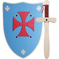 GERILEO Espada mas Escudo de Caballero de Madera artesanales - Complemento para Juegos y Disfraces. Disponible en…