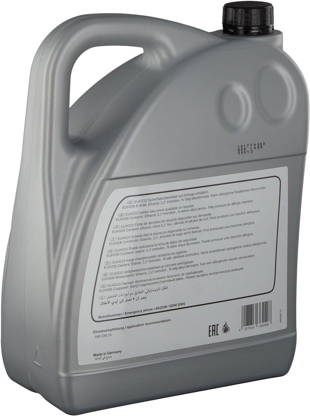 5 Liter febi bilstein 36449 Automatikgetriebe/öl ATF rot