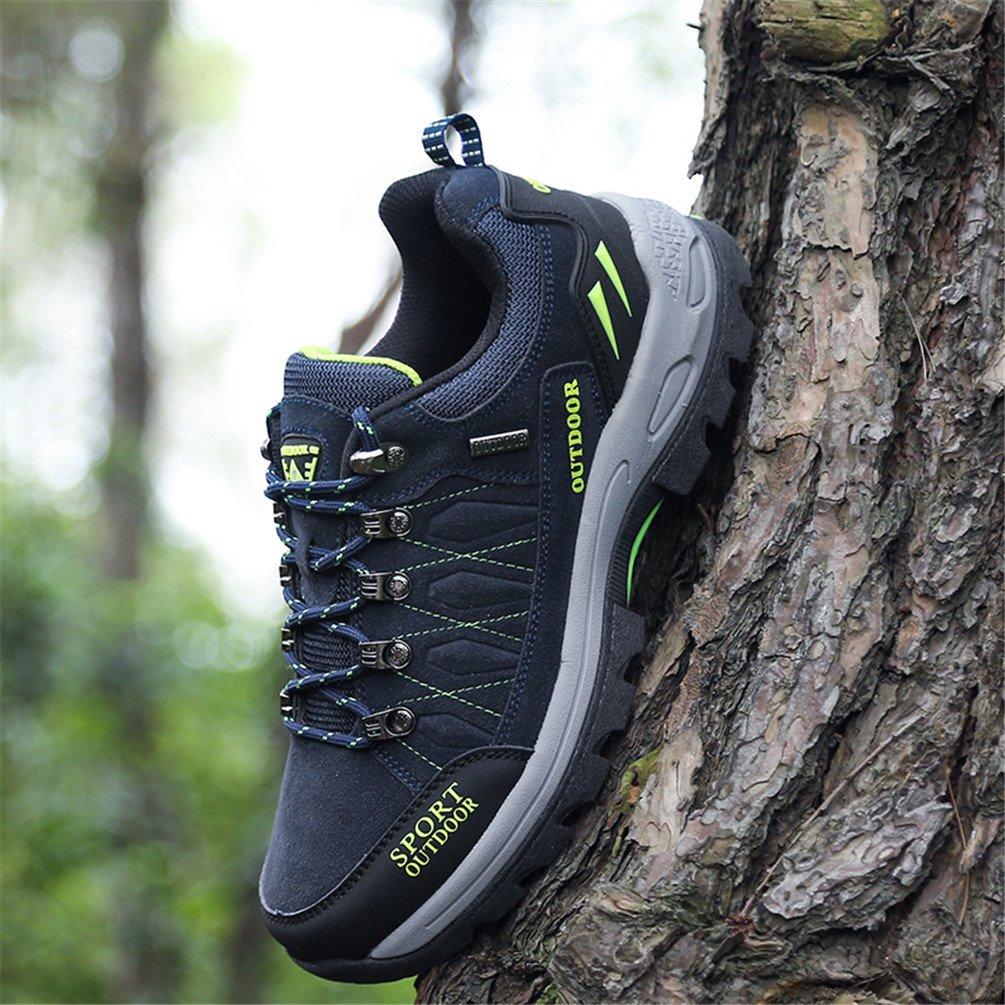 Rock Climbing Shoes Unisex Hiking Shoes Men Women Walking Sneaker Skid Proof Waterproof for Ourdoor Use-Blue-47 EU by Sherry Love (Image #4)