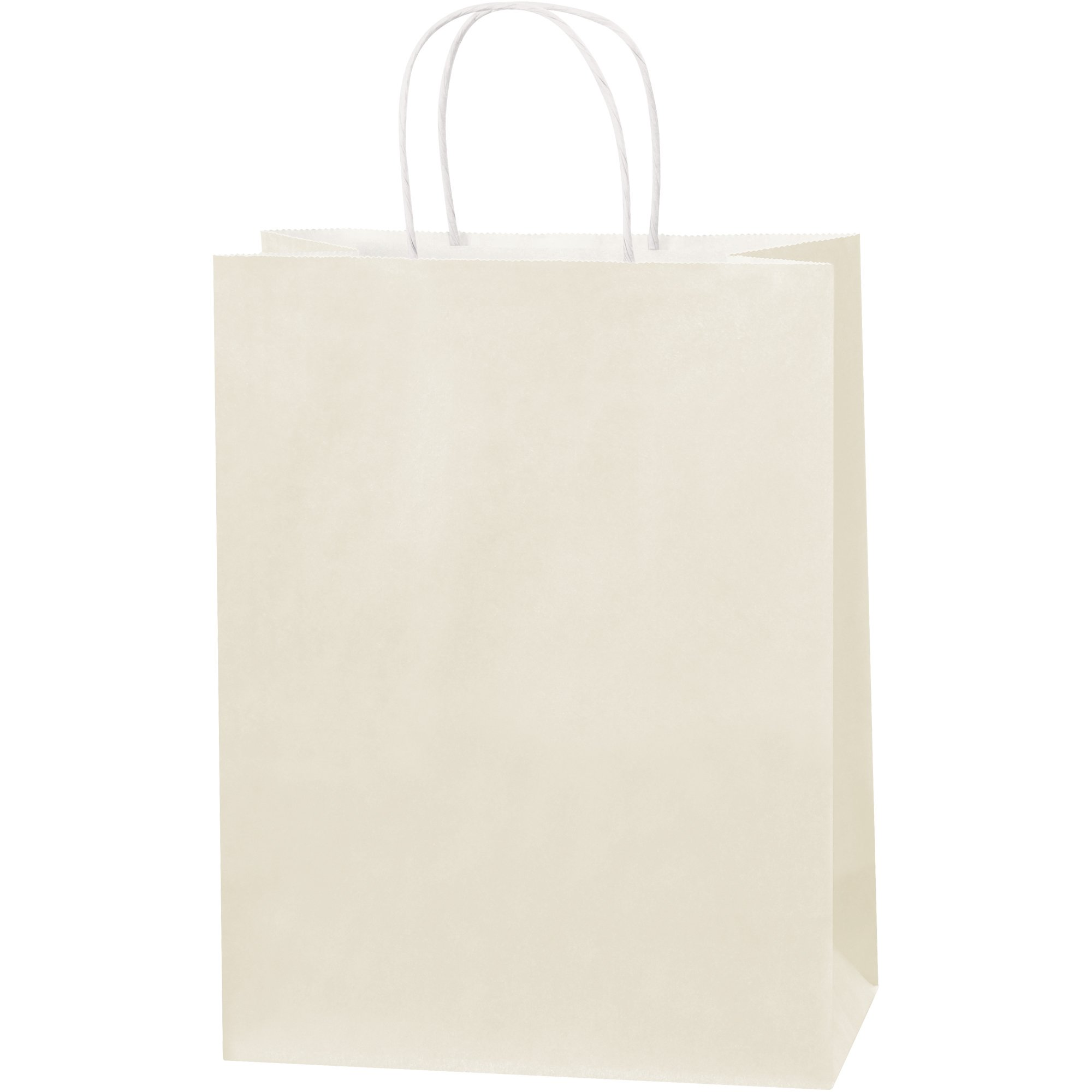 Tinted Paper Shopping Bags, 10'' x 5'' x 13'', French Vanilla, 250/Case by Choice Shipping Supplies (Image #1)