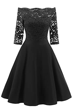 MILANO BRIDE Womens Prom Dress Vintage Half Sleeve Off Shoulder Mother of The Bride Evening Party