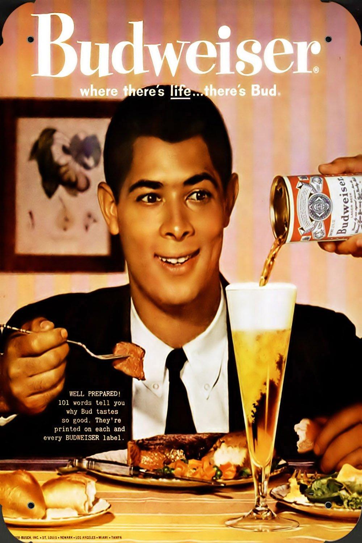 Metal Poster Cartel Hojalata Signo de budweiser Beer During ...