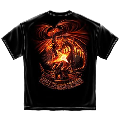 Firefighter T-Shirt Fear No Evil Dragon