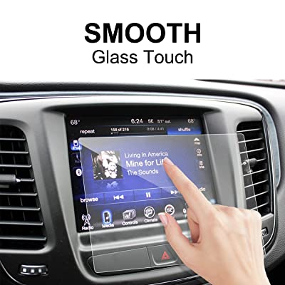 2020 Chrysler Pacifica 8.4 Inch Center Touch Screen Protector, LFOTPP Tempered Glass in-Dash Clear Screen Protector