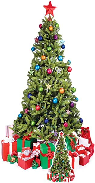 Albero Di Natale Con Regali.Star Cutouts Sagoma In Cartone Dell Albero Di Natale Con Regali A Dimensione Naturale Amazon It Giochi E Giocattoli