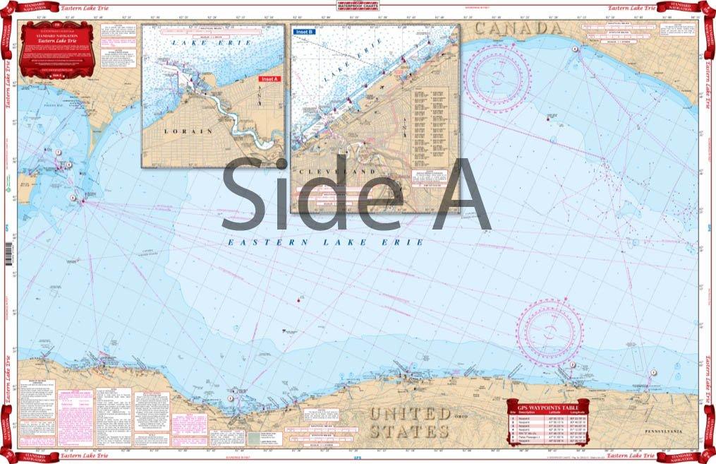 Waterproof Charts, Standard Navigation, 158 Eastern Lake Erie