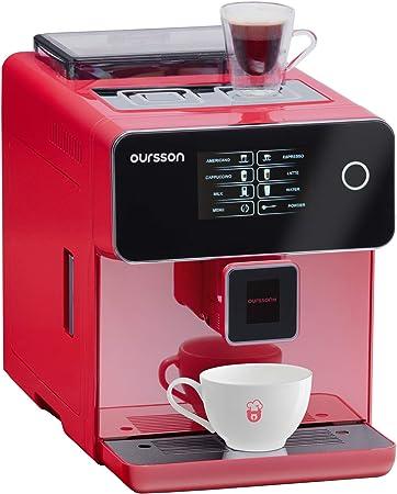 Oursson AM6250/RD - Máquina de café superautomática, molinillo de cerámica, pantalla táctica, 19 bares, color rojo: Amazon.es: Hogar