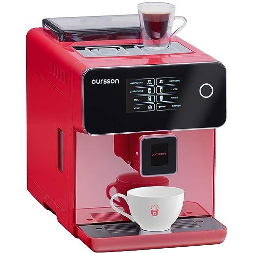Oursson AM6250/RD - Cafetera de café superautomática, molinillo de ...