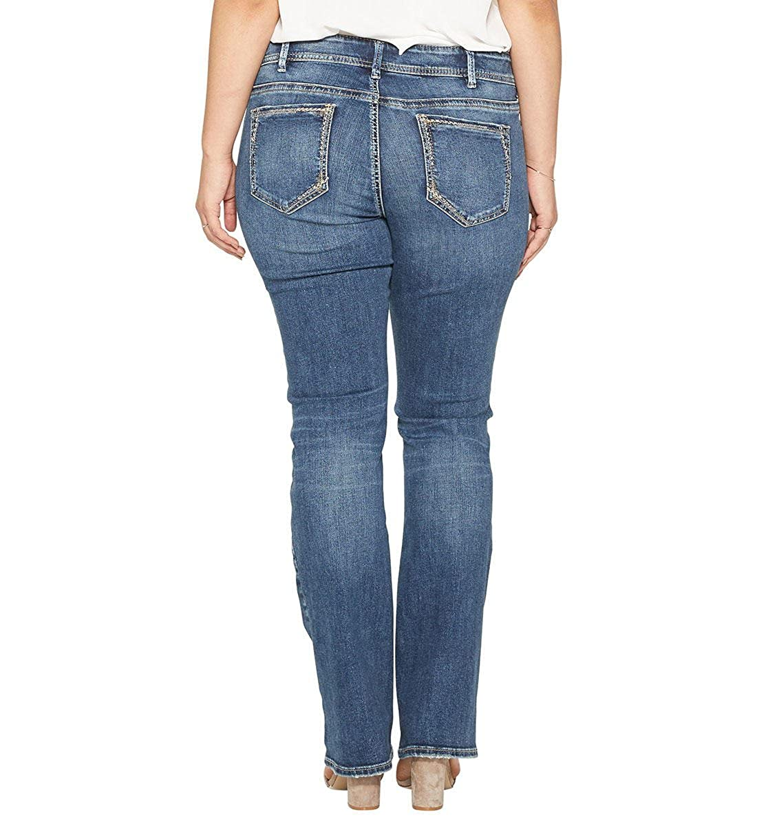 d81c27c81369e Womens Plus Size Elyse Relaxed Fit Mid Rise Slim Bootcut Jeans 2000257749  Silver ...
