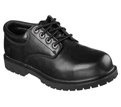 Skechers for Work Men's Cottonwood Elks Slip Resistant Shoe,Black,8.5 M US