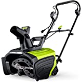 Electric Snow Blower, 20-Inch 15-Amp Corded Snow Blower, LED Lights, 180° Rotating Chute , Lightweight, Low Noise