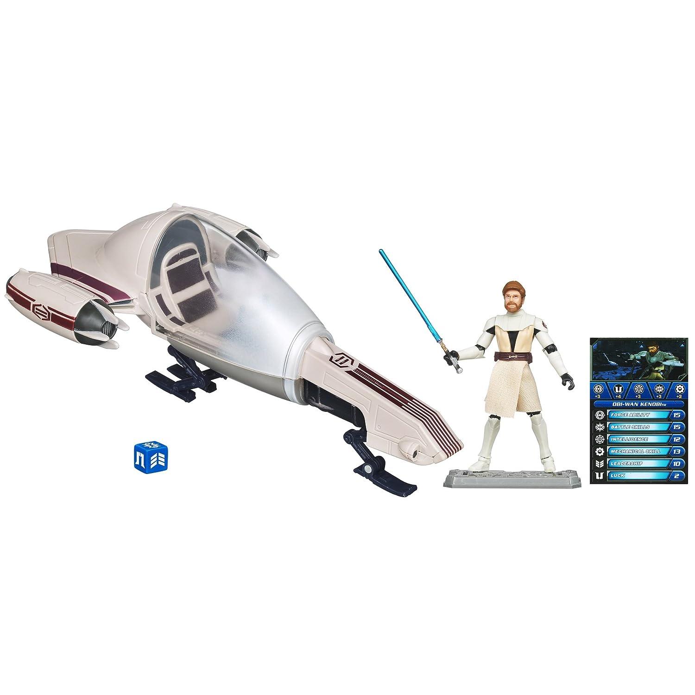 Star Wars Figure and Vehicle Obi-Wan and Freeco Bike 342960000 H29960-34296