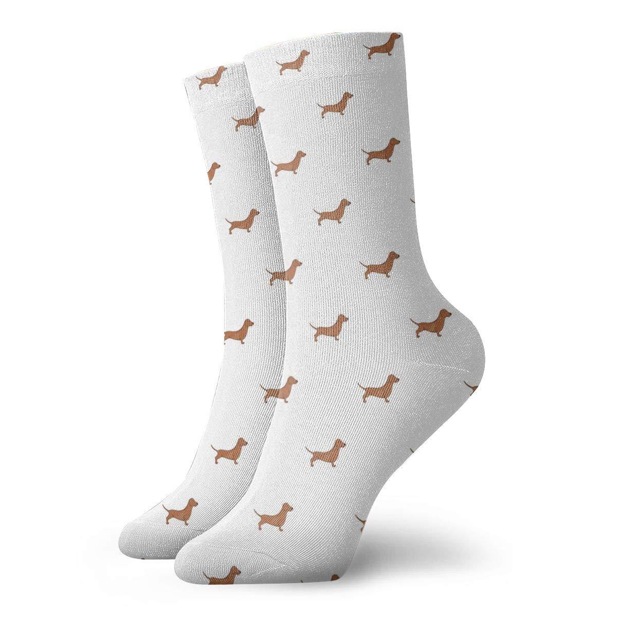 Unisex Baby Brown Dachshund Dog Athletic Quarter Ankle Print Breathable Hiking Running Socks