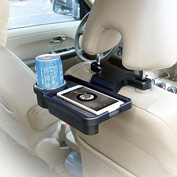 Tirol T22804 - Portavasos Sostenedor de Bebidas Teléfono Móvil Multifuncional para Asiento Trasero Coche: Amazon.es: Coche y moto
