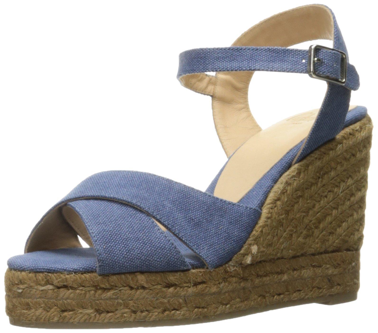 Castaner Women's Blaudell Platform Sandal, Jeans (Light Blue), 38 EU/7.5 N US