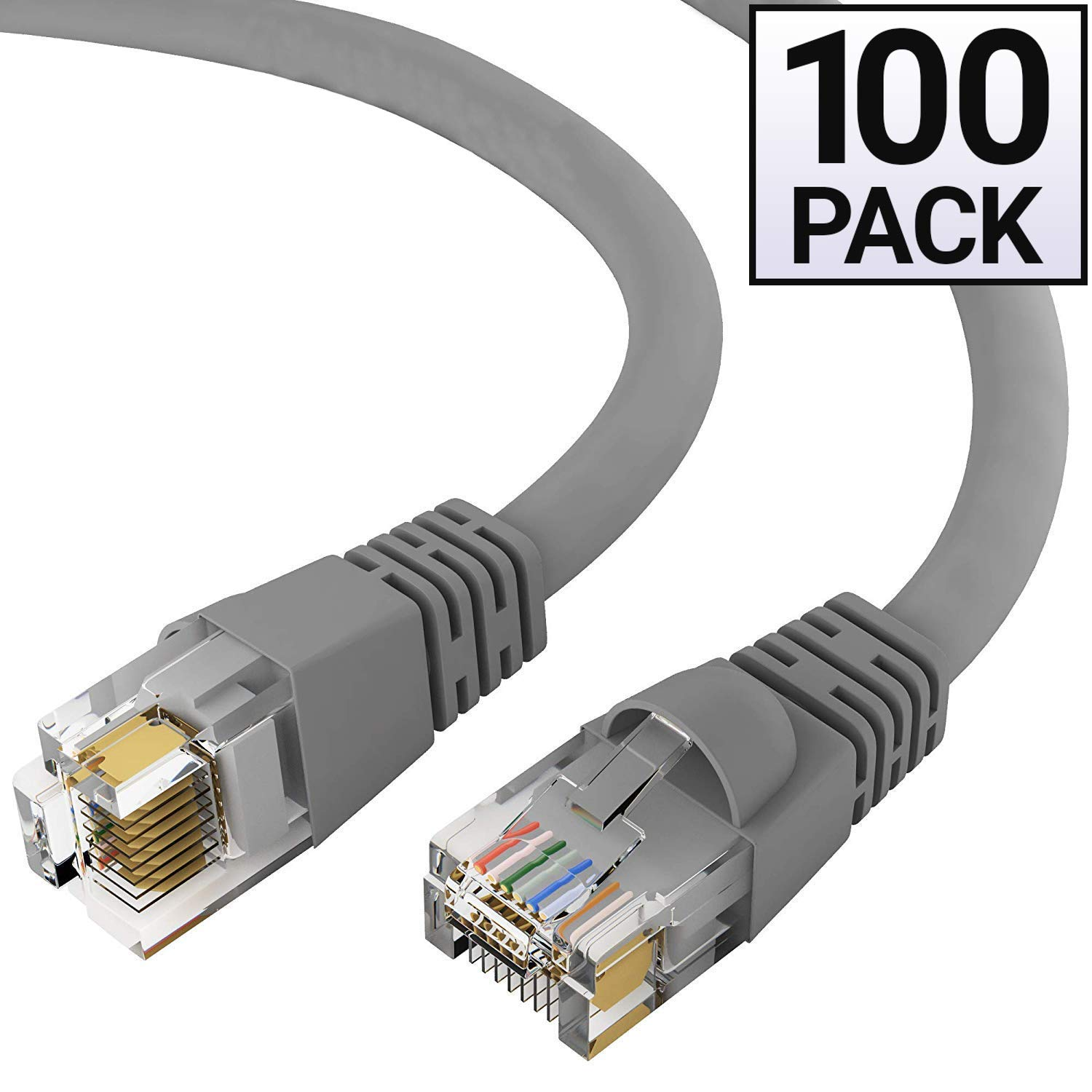 CAT5E Gray Ethernet Cable 100 feet