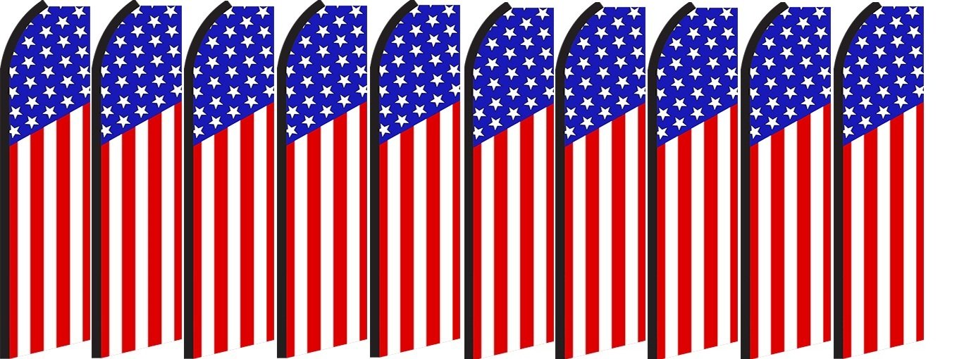 Pack of 10 Hardware not Included US Flag King Swooper Feather Flag Sign