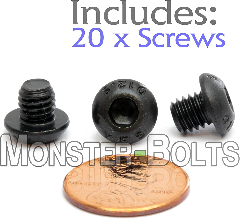 Fasteners & Hardware 10 M6-1.0 x 6mm Button Head Socket Caps ...