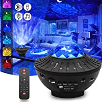 Sky Lite Night Light Laser Projector with Remote Control, 2 in 1 Star Starry Sky Light with LED Nebula Cloud Moving…