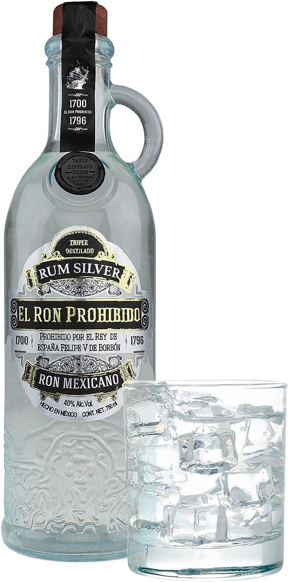 El Ron Prohibido Triple Distilled White Mexicano Rum - 700 ml ...