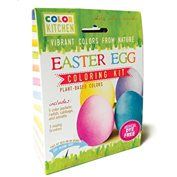 Amazon.com : ColorKitchen Natural Easter Egg Coloring Kit, 0.64 ...