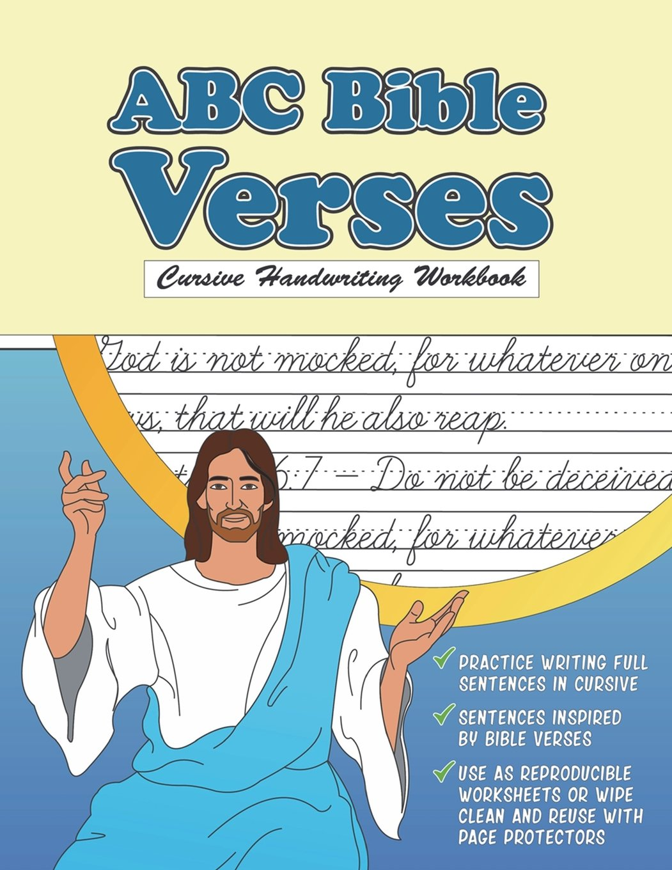Cursive Handwriting Workbook: ABC Bible Verses: Christian Cursive ...