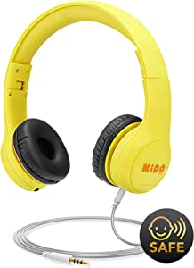 Kids Headphones [No VoliBolt Ears], Mumba Wired Over-Ear Headphones with Music Sharing Function, 85dB Volume Limited Hearing Protection,Safe Food Grade Material, 3.5mm Jack (HS01) Headset for Children