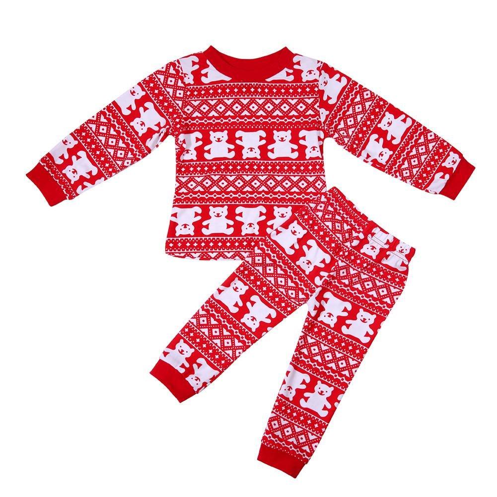 Domybest 2pcs Pigiama Bambino Invernale Set di Abbigliamento da Notte di Cotone per Bambini
