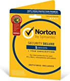 Norton Security Deluxe 2018 | 5 Devices Plus Utilities| 1 year | Antivirus included | PC|Mac|iOS|Android | Download