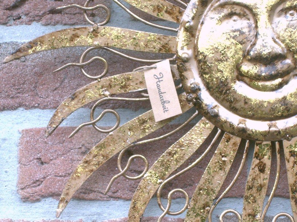 Garten Wanddeko amazon de sonne wanddeko wandbild metall garten deko hänger bild