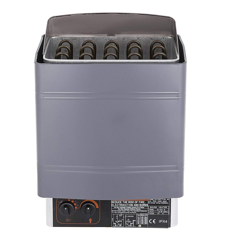 VEVOR Sauna Heater 9KW Dry Steam Bath Sauna Heater Stove 220V-240V with Internal Controller Electric Sauna Stove for Max.459 Cubic Feet Home Hotel Sauna Room Spa Shower Bath Sauna by VEVOR