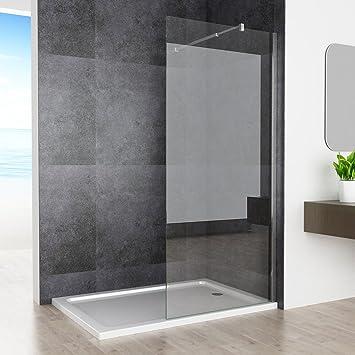 80 x 200 cm Walk In ducha Mampara de ducha pared ESG 10 mm Nano ...