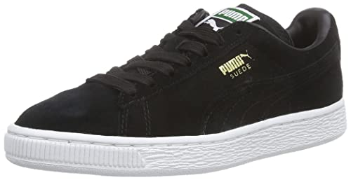 Nero 44 EU PUMA SUEDE CLASSIC SNEAKERS DA UOMO BLACK/TEAM GOLD/WHITE 9.5 UK