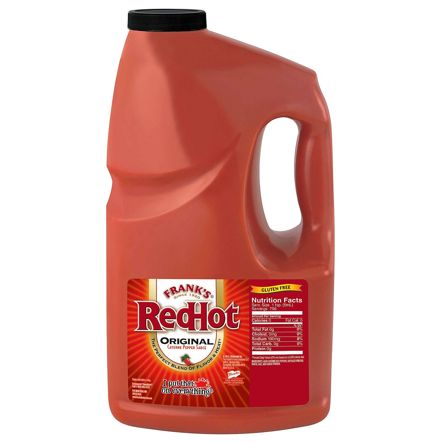 Product of Frank's Red Hot Cayenne Pepper Sauce - 1 gal. - Condiments [Bulk Savings]