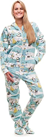 Kajamaz Pijama Entero con pies para Adultos Christmas Morning Pijama Entero con pies para Adultos de Franela