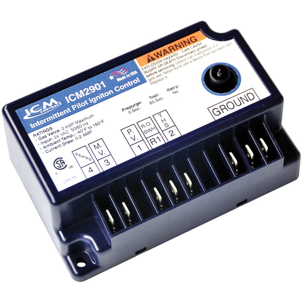 Including York 025-27762-700 and JCI G770RJA-1 Series Controls ICM Controls ICM2901 IPI Gas Ignition Control Replacement for Popular Models