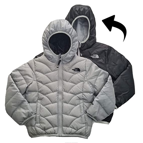 76c20e712 The North Face Yoth Girls Luna Reversible Down Jacket High Rise Grey ...