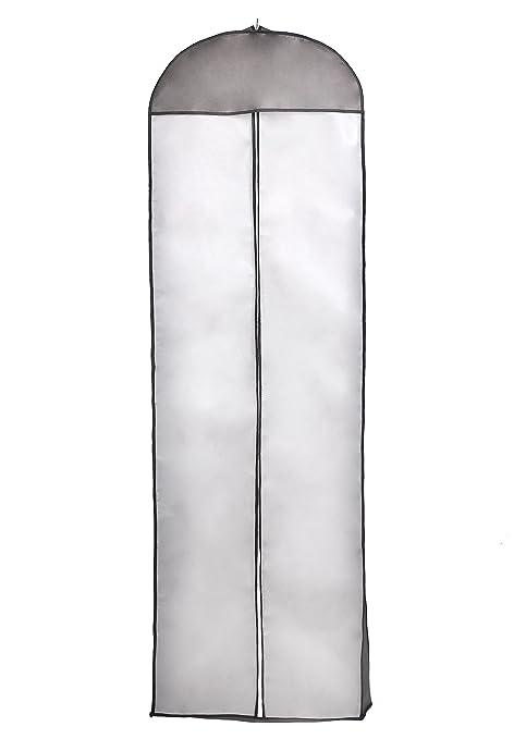 TUKA Transpirable Funda de Ropa, 180 cm x 60 cm Bolsa de Ropa Protector para Vestidos de Novia o de Fiesta, Trajes, Abrigos. - Cierre de Cremallera - ...
