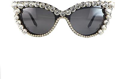 OVERSIZED Retro CAT EYE Style SUN GLASSES Thick Frame Bling Crystals Custom Made