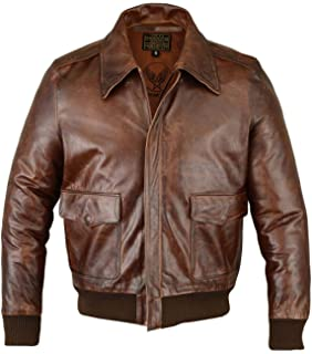 A-2 Aviator Vintage Bomber G-1 US Air Force Pilot Real Leather Jacket