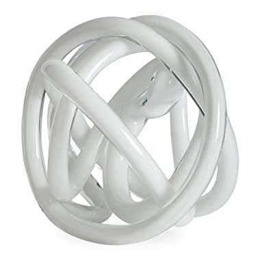 Now House by Jonathan Adler Glass Knot, White