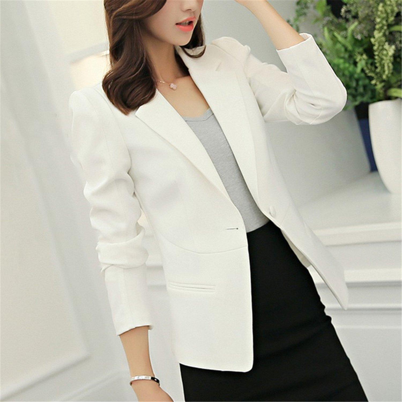Sonder Autumn Jackets Women Long Sleeve Single Button Female New Chaquetas 7 colors Mini Blazer Feminino at Amazon Womens Clothing store:
