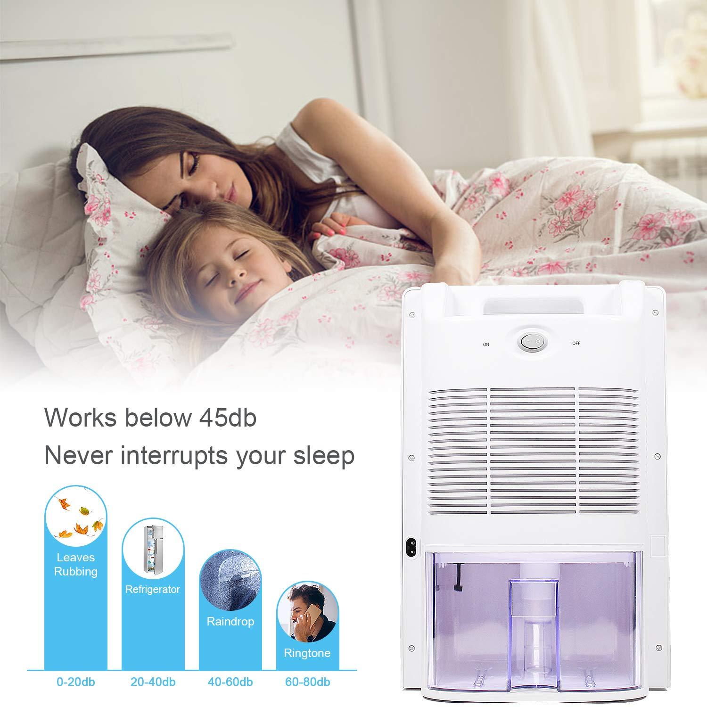 LATITOP Home Dehumidifier, Room Dehumidifier with 2L(4.2 Pints) Water Tank, Air Mini Dehumidifier for Home Bedroom Basement Baby Room Bathroom Kitchen Farm