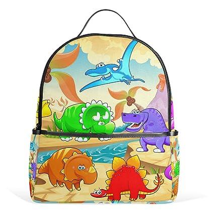 WangWtry Mochila para Ni/ños Peque/ños Ni/ños Ni/ñas Mochilas Escolares Dinosaurios Dibujos Animados con Cuerdas de Tracci/ón Sin P/érdidas